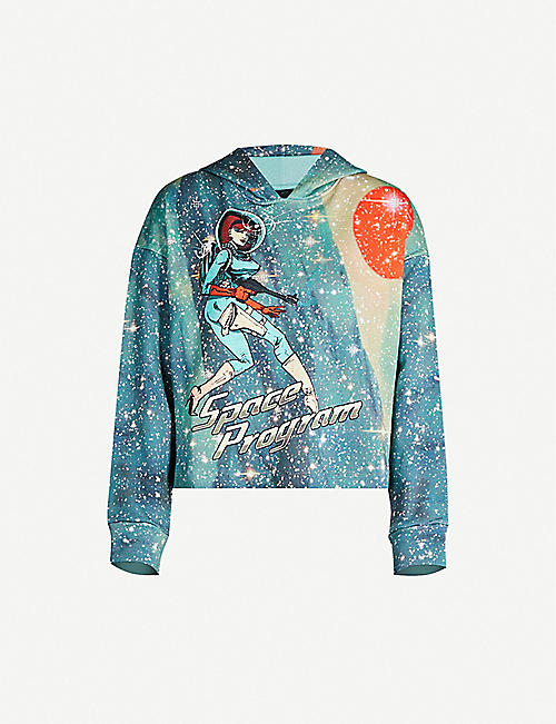 247689c9dc PINKO Magnets space-print cotton-jersey hoody