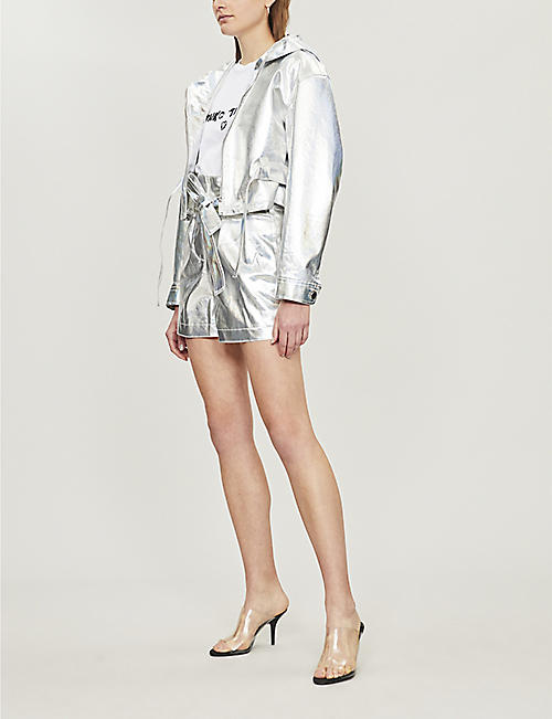 PINKO The Town metallic cotton-blend jacket