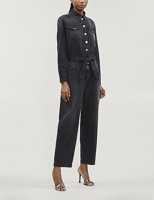 PINKO Pax wide-leg denim jumpsuit