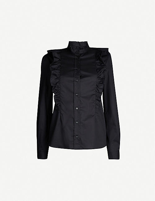PINKO Mirto ruffled cotton-blend shirt
