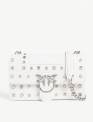 PINKO Love Idillio leather shoulder bag
