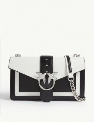 PINKO Love Evolution leather shoulder bag