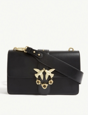 PINKO Love leather shoulder bag