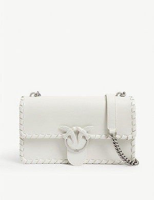 PINKO Love Twist leather cross-body bag