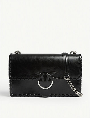 PINKO: Love Twist leather cross-body bag