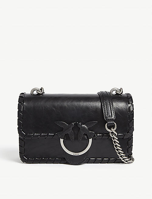 PINKO Mini Love Twist leather cross-body bag