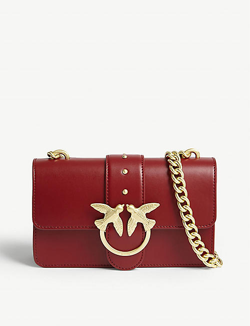 PINKO Mini Love Simply leather shoulder bag