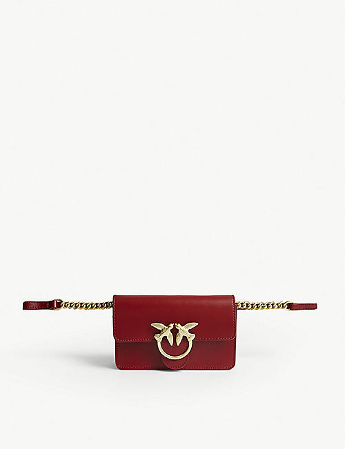 PINKO: Baby Love Simply leather cross-body bag