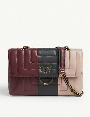 PINKO: Love quilted leather cross-body bag