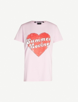 PINKO Mazurka graphic-print cotton-jersey T-shirt