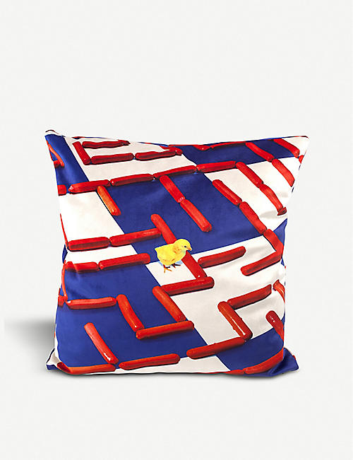 SELETTI Labyrinth cushion cover 50cm x 50cm