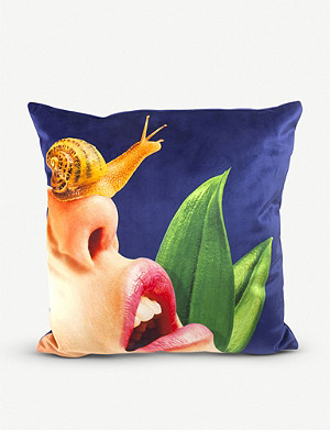 SELETTI Snail cushion cover 50cm x 50cm