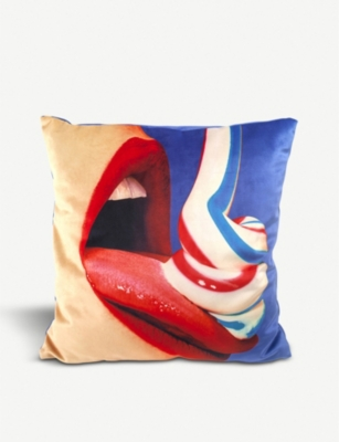 SELETTI Toothpaste cushion cover 50cm x 50cm