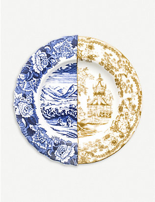 SELETTI: Hybrid Sofronia printed porcelain soup plate 25.4cm