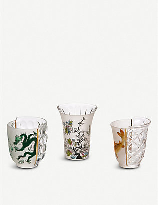 SELETTI: Aglaura Hybrid drinking glasses set of three