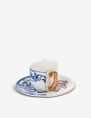 SELETTI: Eufemia Hybrid porcelain coffee cup and saucer