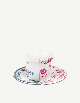 SELETTI: Leonia Hybrid porcelain coffee cup and saucer