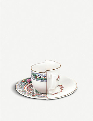 SELETTI: Tamara Hybrid porcelain coffee cup and saucer