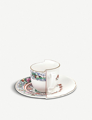 SELETTI Tamara Hybrid porcelain coffee cup and saucer
