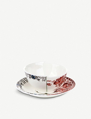 SELETTI Zora Hybrid porcelain teacup and saucer