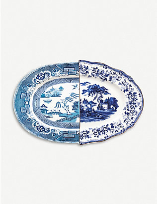 SELETTI: Hybrid Diomira bone china porcelain tray
