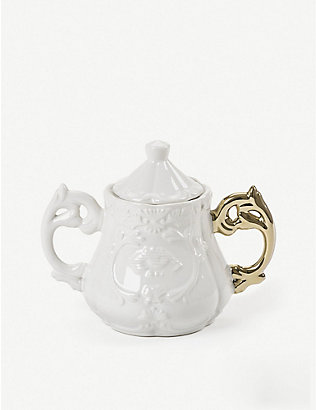SELETTI: I-Wares Gold bone china porcelain sugar bowl 23cm