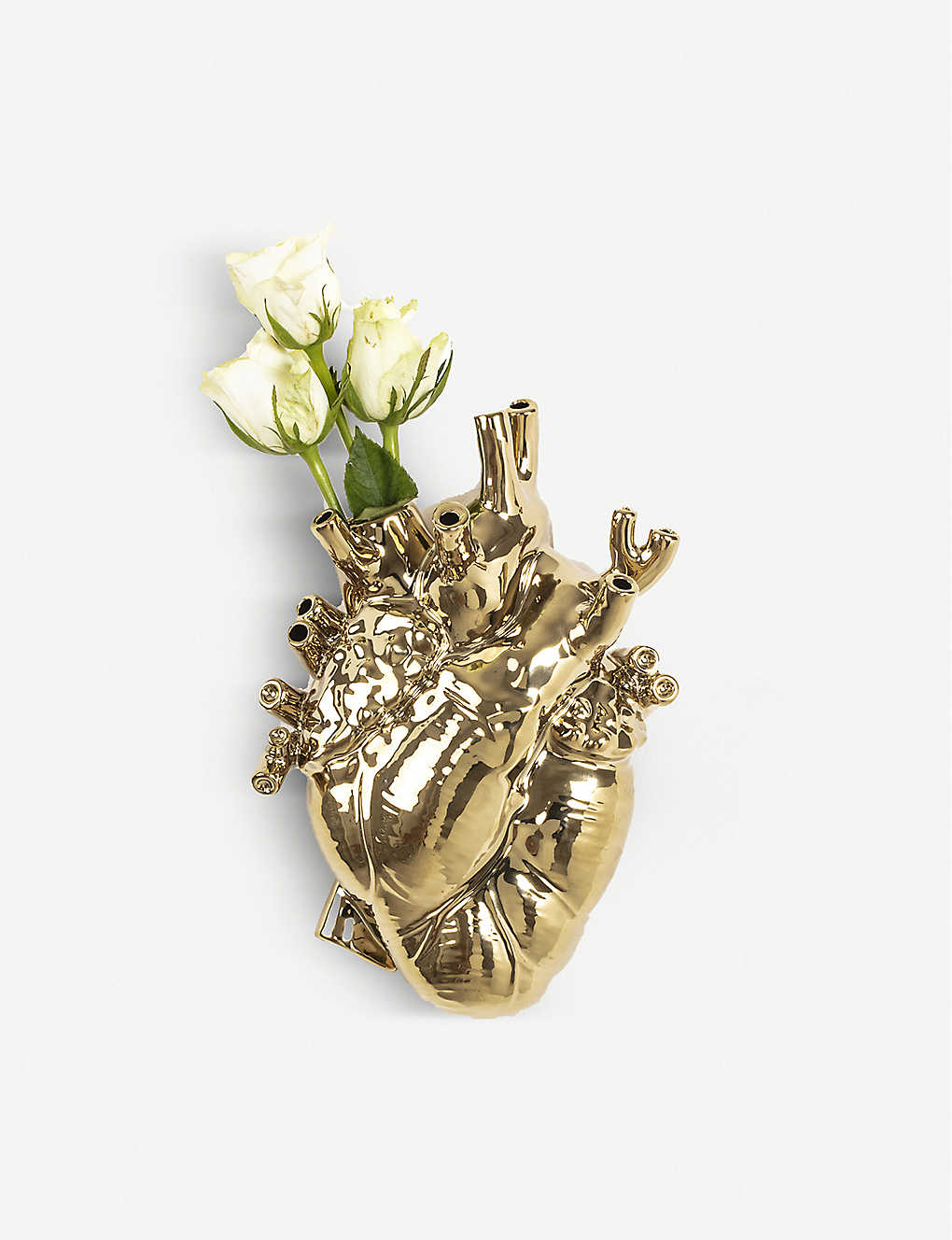 SELETTI: Love in Bloom heart-shape vase 25cm