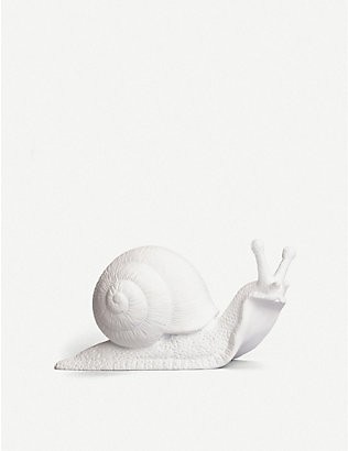 SELETTI: Awake resin snail wall hook 16cm