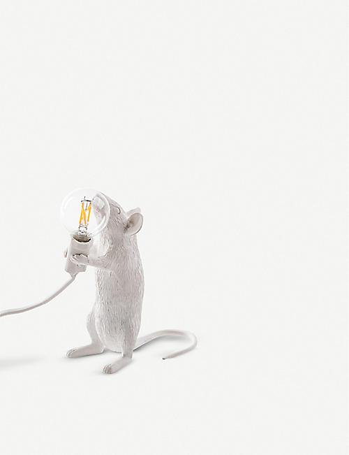 SELETTI: Standing mouse resin lamp 14.5cm