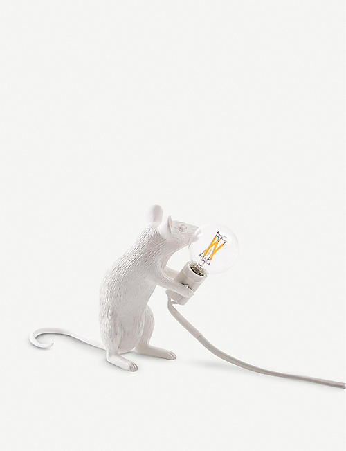 SELETTI Sitting mouse resin lamp 15cm