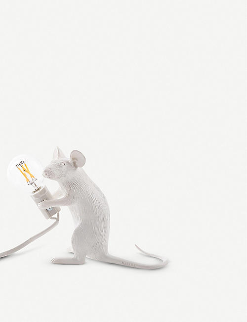 SELETTI: Sitting mouse resin lamp 15cm