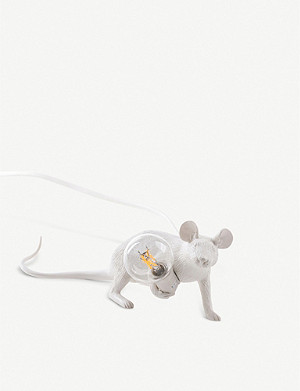 SELETTI Running mouse resin lamp 21cm