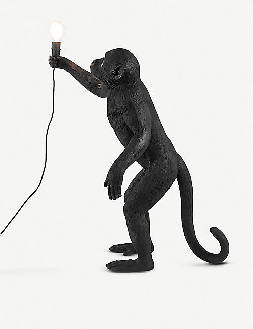 SELETTI: Standing monkey resin lamp 54cm