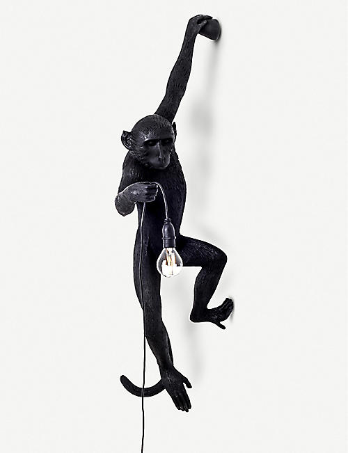 SELETTI: Hanging monkey resin outdoor lamp 75cm