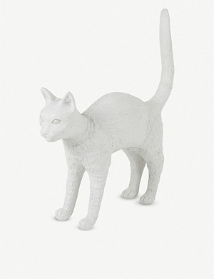 SELETTI Jobby the Cat resin lamp 46cm