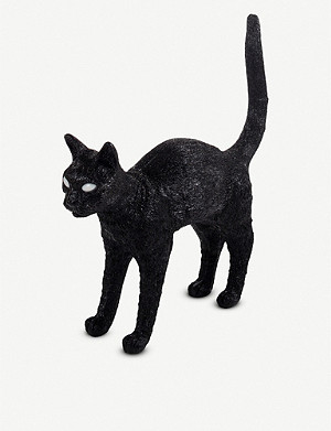 SELETTI Jobby the Cat resin lamp