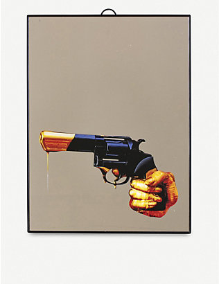 SELETTI: Toiletpaper plastic and glass revolver mirror