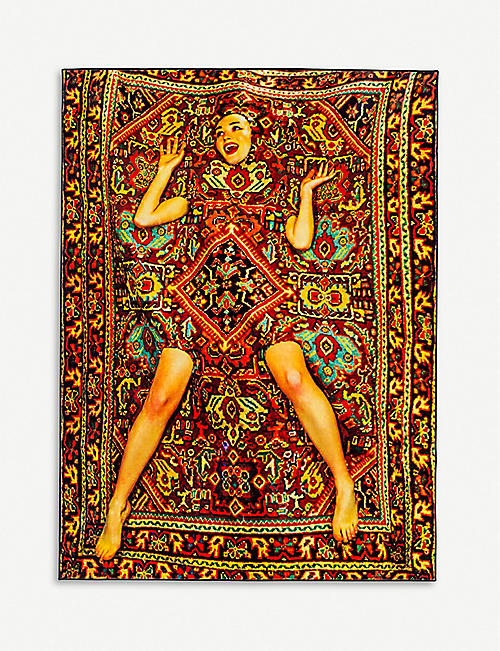 SELETTI Lady on Carpet woven rug 280 x 184 cm