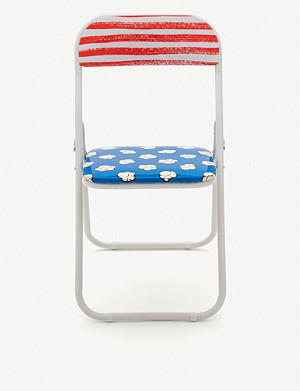 SELETTI Blow metal and PVC folding chair 46cm