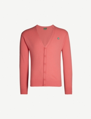 BENETTON Unisex V-neck wool-blend cardigan