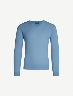 BENETTON Unisex V-neck cashmere jumper