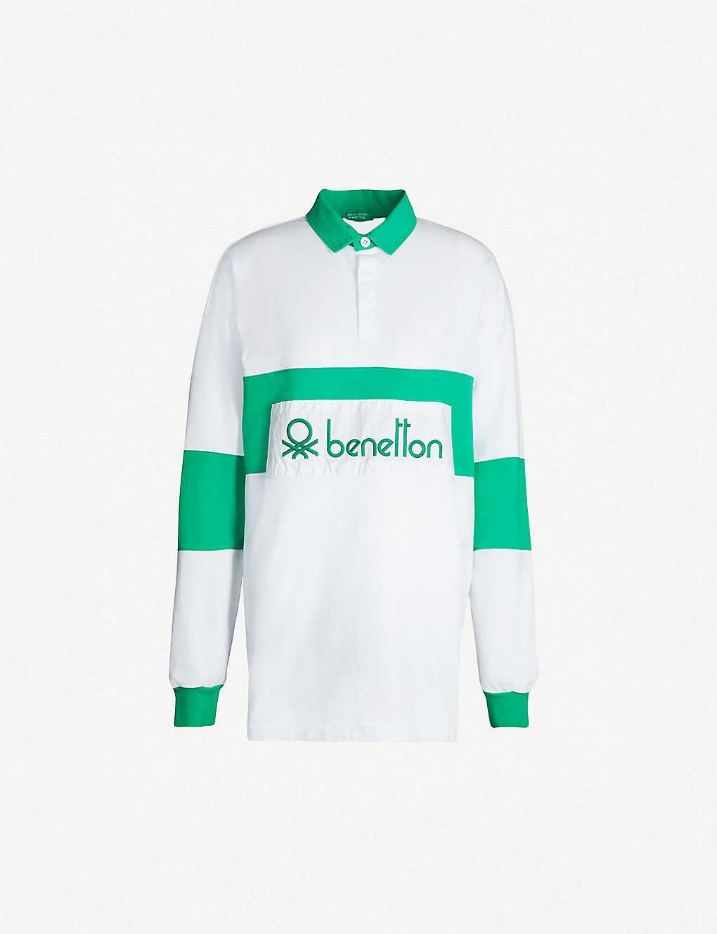 3da60a1c0 BENETTON - Unisex logo-embroidered cotton-jersey polo shirt ...