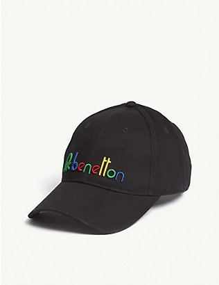BENETTON: Unisex logo-embroidered cotton cap