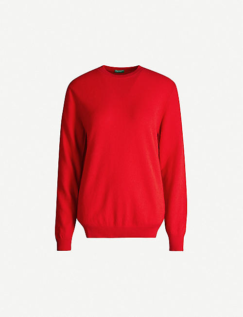 BENETTON: Round-neck cashmere jumper