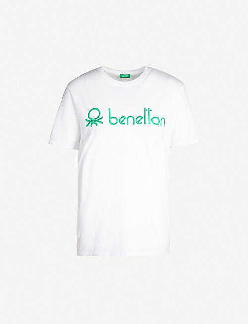 BENETTON Embroidered-logo cotton-jersey T-shirt