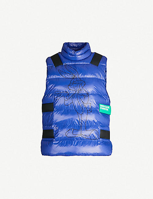 BENETTON Rabbit-graphic quilted vest