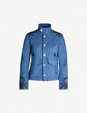 BENETTON Embroidered denim jacket