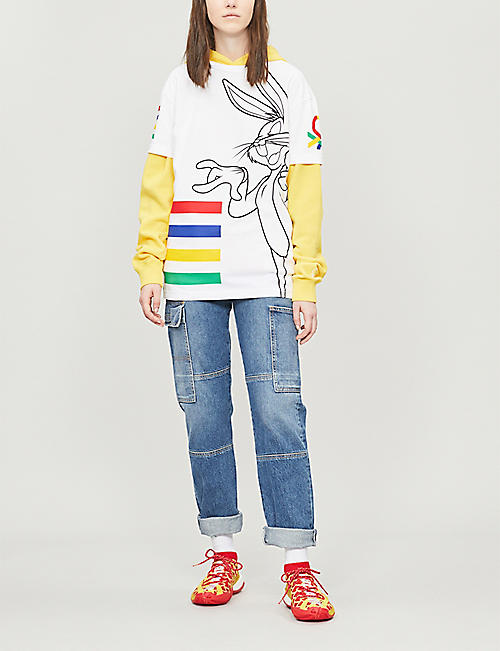 BENETTON Rabbit-graphic cotton-jersey T-shirt
