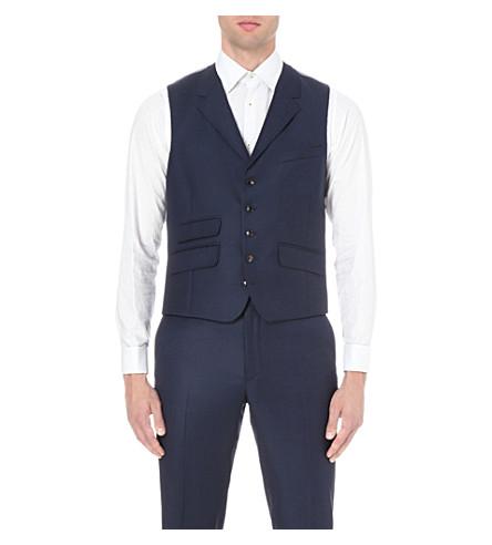 a3feab97d TED BAKER Sterling birdseye wool waistcoat (Blue