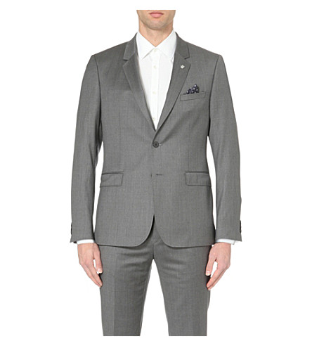 96bf847452a0 TED BAKER Debonair wool suit jacket (Grey